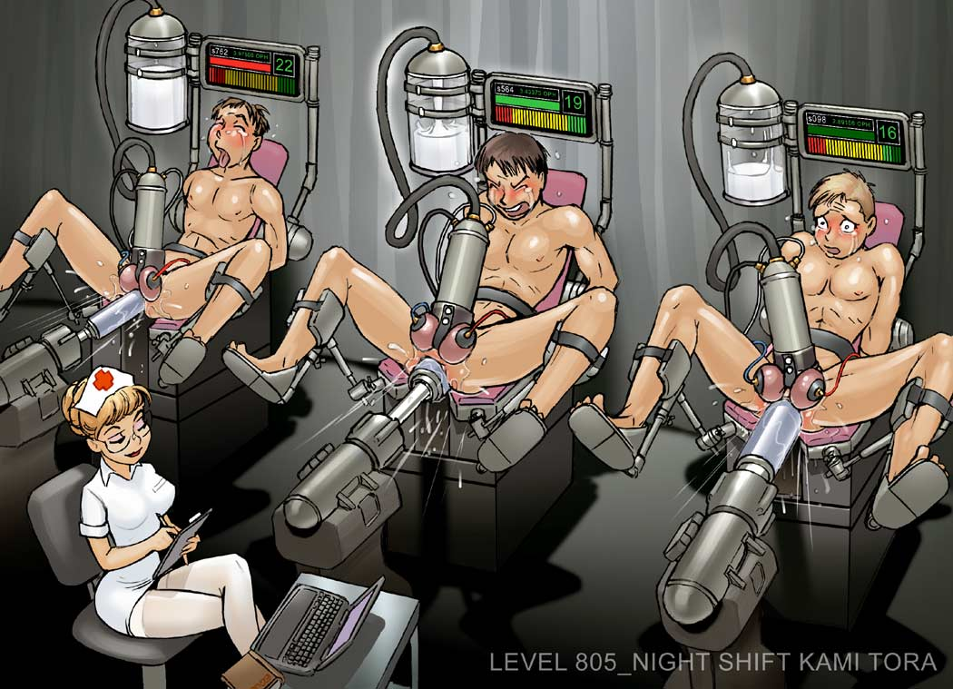 female 3boys anal_insertion cbt cfnm chair clipboard clothed_female_nude_male cum_in_container electrodes electrostimulation experiment femdom fucking_machine gay glasses gyn_chair kamitora laptop legs_held_open machine malesub medical milking_machine multiple_boys nude nurse penis_milking rape science sex_machine spread_legs urethral_insertion
