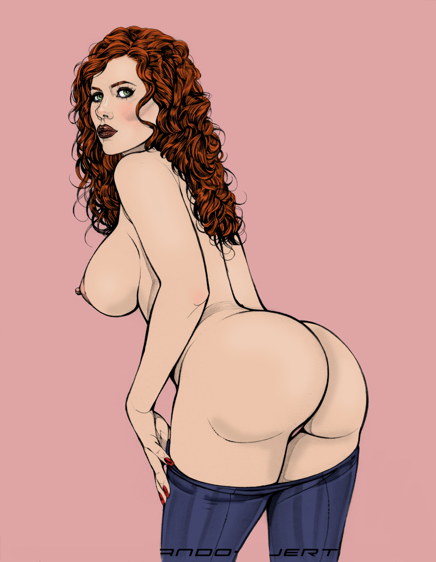 Red hair with big ass nude — img 14