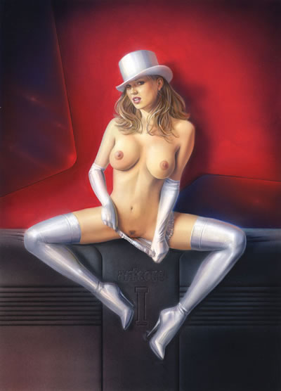 blonde_hair boots breasts female gloves hat heels high_heels large_breasts magician nude pubic_hair pussy solo