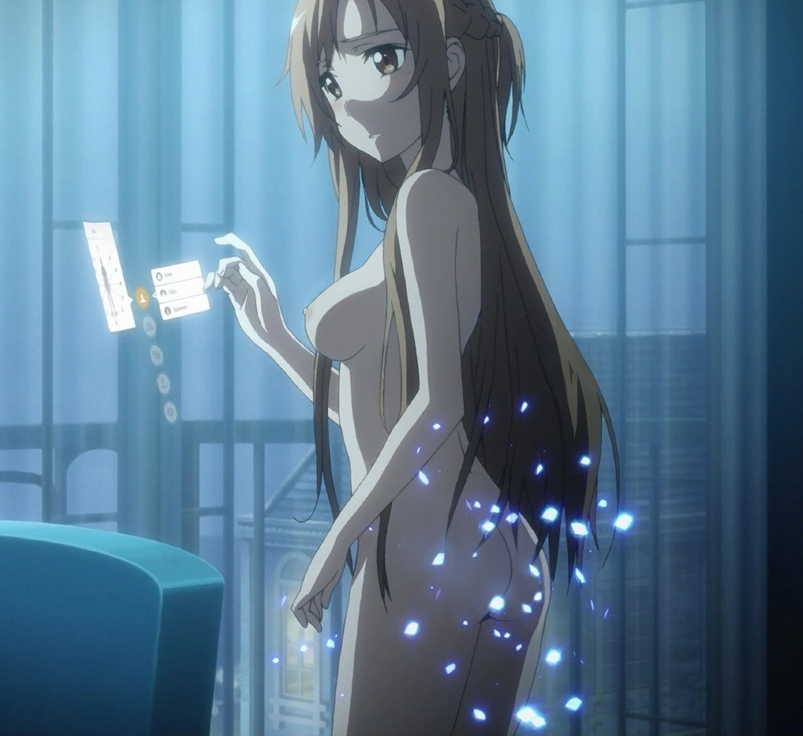 asuna_(sao) holografic_interface nipples nude nude_filter photoshop sword_art_online uncensored