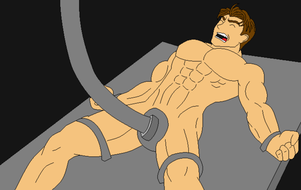 bound_legs bound_wrists machine male male_only malesub max_steel nude penis_milking science spread_legs strapped_down tagme tentacle_on_male