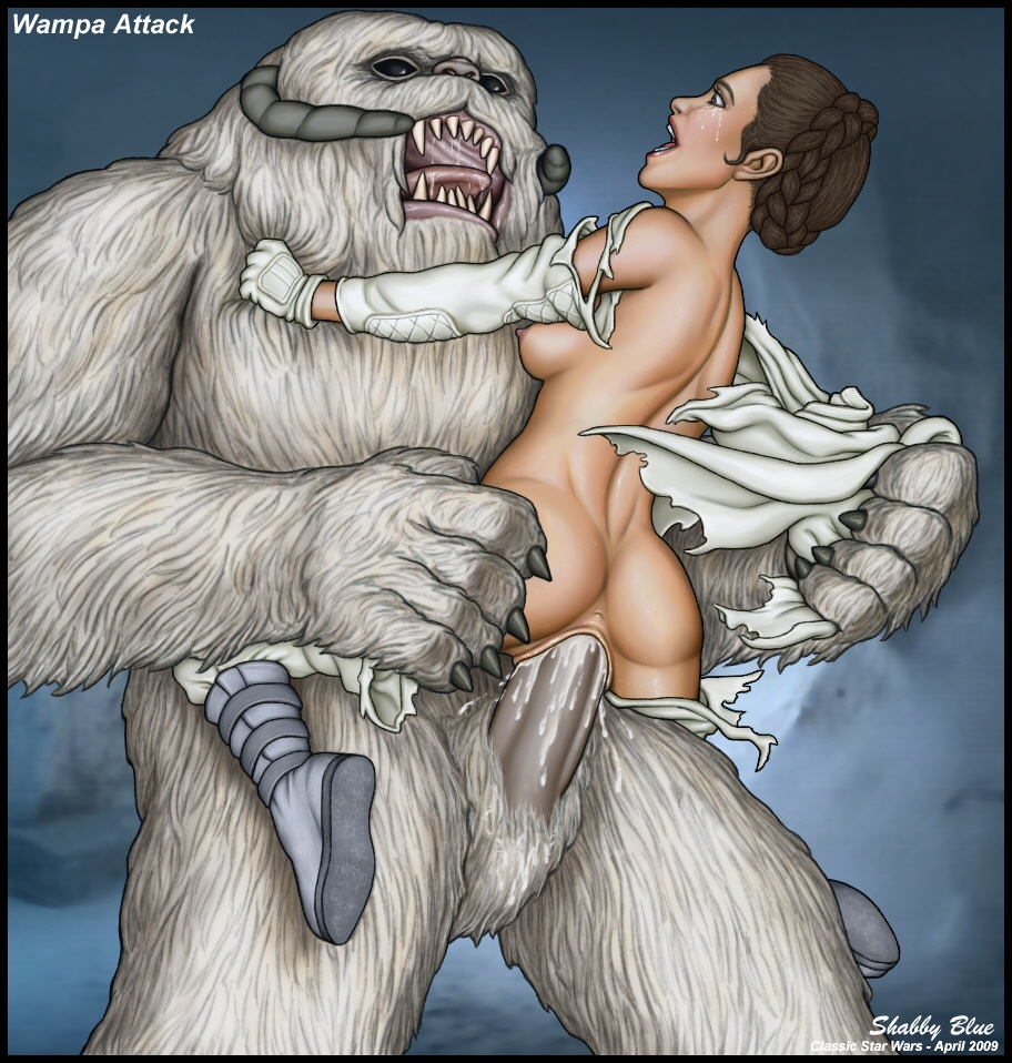 creampie crying cum_in_pussy cum_inside empire_strikes_back forced giant_dick interspecies large_insertion monster no_bra no_panties princess_leia_organa rape shabby_blue sideboob size_difference star_wars tear torn_clothes wampa zoophilia
