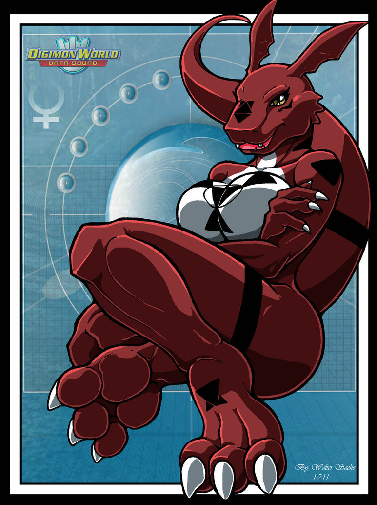 breasts digimon female guilmon tagme