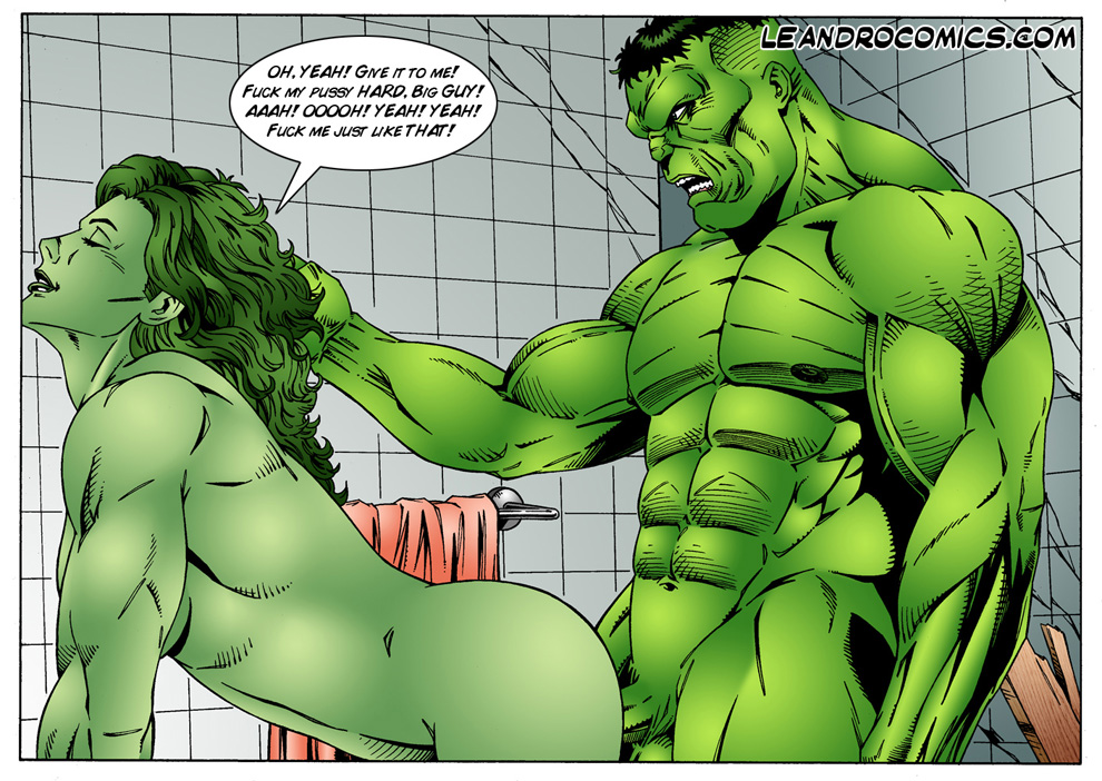 comic green_skin hulk hulk_(series) incest jennifer_walters leandro_comics marvel she-hulk
