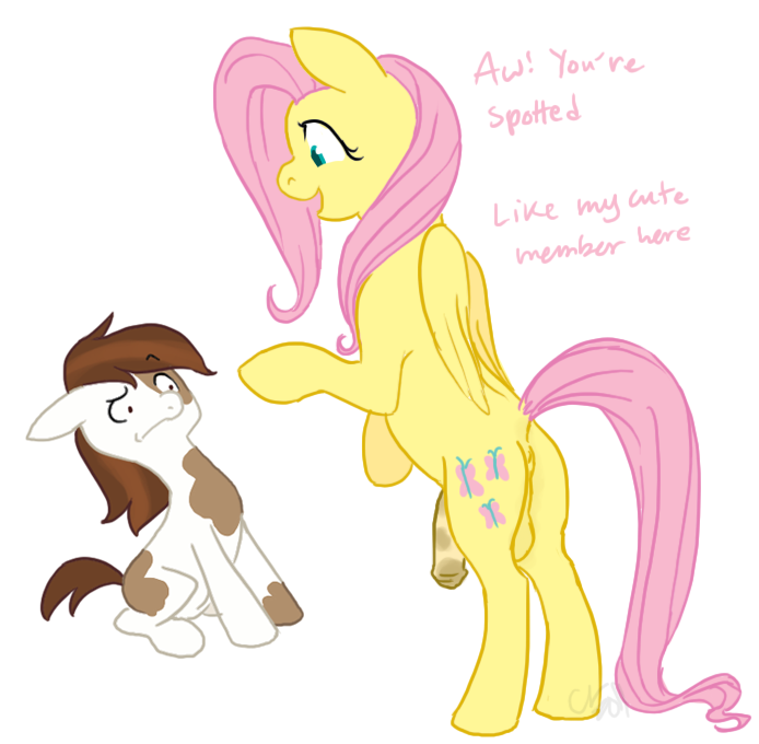anus ass balls cartoonlion cub cutie_mark dickgirl equine female feral fluttershy_(mlp) friendship_is_magic futanari futashy hair horse intersex male my_little_pony penis pink_hair pipsqueak_(mlp) pony sitting tail yellow young