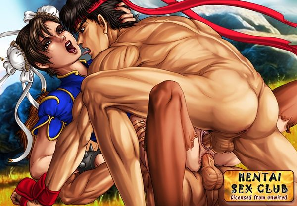 chun-li color female human interracial ken_masters male muscles ryu sex straight street_fighter tagme threesome