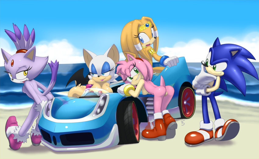 amy_rose anthro ass bat bent_over blaze_the_cat blue_eyes breasts cat color echidna feline female fur green_eyes hedgehog hotred interspecies large_breasts male mammal multiple_males nude pussy rouge_the_bat smiling sonic_(series) sonic_the_hedgehog tikal_the_echidna yellow_eyes