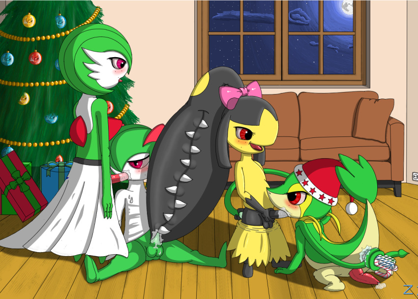 christmas gardevoir gay kirlia mawile no_humans pokemon snivy