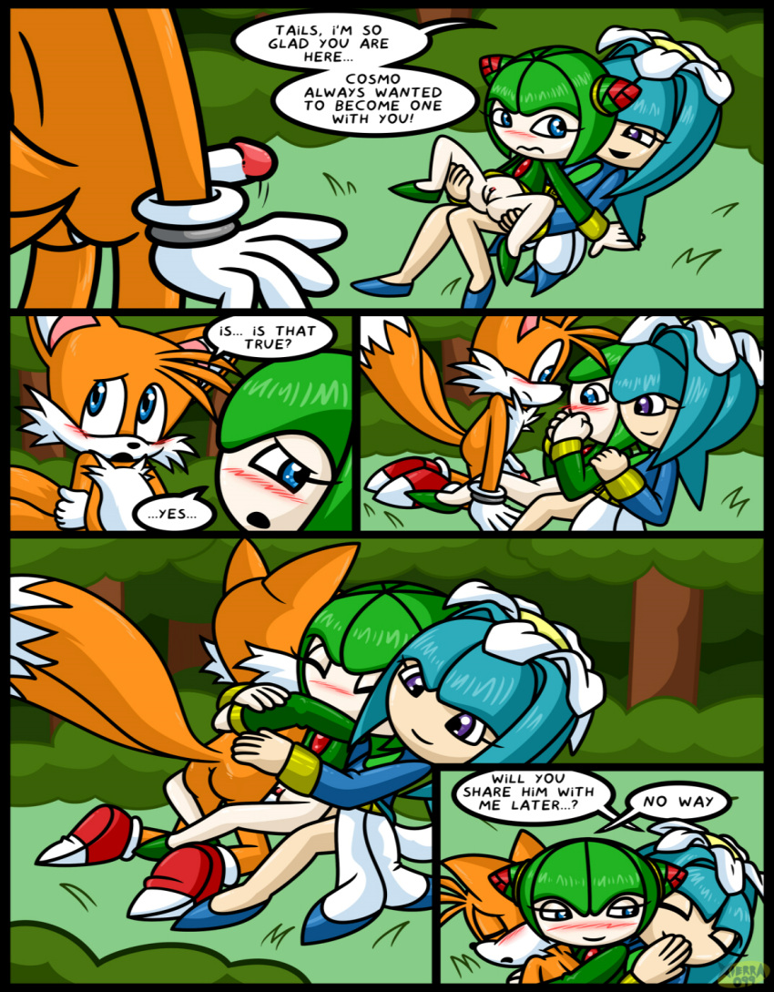 2girls comic cosmo_the_seedrian galaxina_the_seedrian sex sonic_(series) tails
