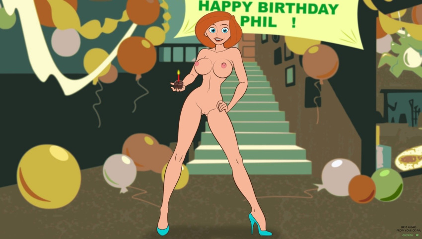 ann_possible breasts cake high_heels kim_possible nipples nude phillipthe2 pussy short_hair