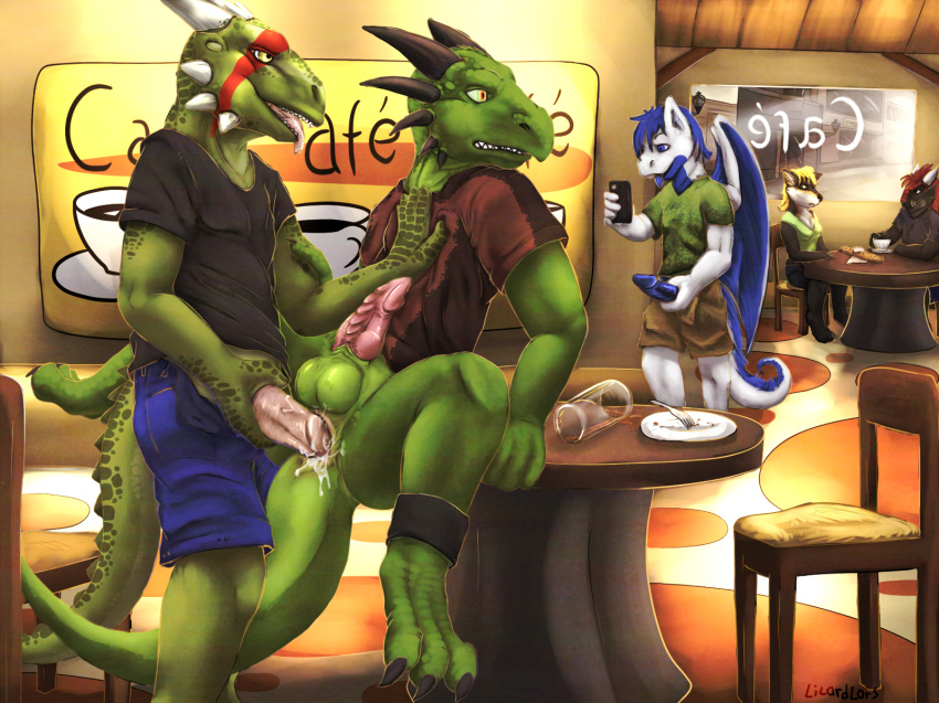 anal anthro argonian dragon gay lizardlars no_humans public scalie sex the_elder_scrolls video_games yaoi