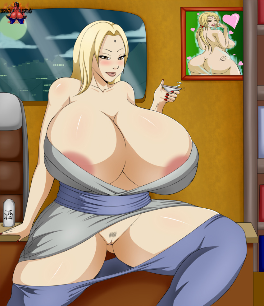 demonroyal female female_only huge_breasts human hyper_breasts naruto solo tsunade