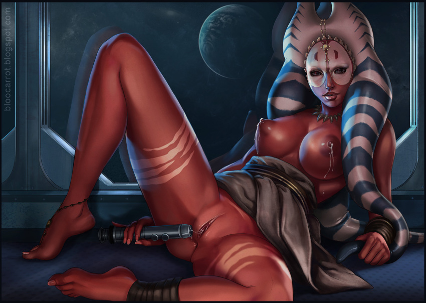 bloocarrot breasts lactation nipples pussy shaak_ti star_wars uncensored
