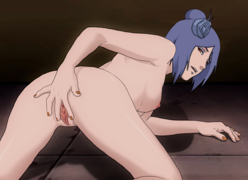 rule 34   bent over konan looking back naruto spread pussy tagme