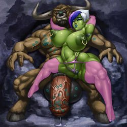 alternate_version_available anthro armpit_hair ass balls big_breasts breasts curvy erect_nipples facial_piercing female female_armpit_hair flaccid green_skin hair hooves horn huge_ass huge_balls huge_breasts huge_cock humanoid hyper_balls hyper_penis imminent_sex interspecies kiss_mark large_nipples lipstick_mark lipstick_on_balls lipstick_on_penis male minotaur multicolored_hair navel navel_piercing nipple_piercing nipples nose_piercing nose_ring orc orc_female penis piercing pointy_ears precum pubes pubic_hair pussy raised_arm rampage0118 semi-erect sitting_on_lap thighhighs vem video_games voluptuous warcraft wide_hips world_of_warcraft rating:Explicit score:44 user:bot