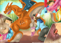 anilingus anus balls black charizard fellatio hilbert_(pokemon) human male male_only multiple_males oral pokemon pokephilia rimming shadman yaoi zoophilia rating:Explicit score:74 user:splicerb1998