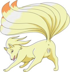 all_fours anus ass canine drooling female feral fox in_heat moonlight_rider multiple_tails ninetales nintendo pokemon presenting presenting_hindquarters pussy pussy_juice red_eyess saliva tongue video_games wet  rating:explicit score:3 user:bot