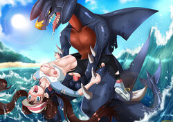 bestiality blue_eyes breasts brown_hair fucked_silly garchomp hat mai nipples open_mouth penis pokemon pussy saliva sex shadman testicles tied_hair tongue twintails vaginal_penetration zoophilia rating:Explicit score:112 user:RedPyroGuy