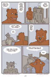 anthro artdecade bear bed bedroom big_muscles canine comic english_text erection grizzly_bear male mammal muscles penis text uncut what wolf yaoi rating:Explicit score:2 user:bot