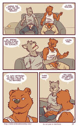 anthro artdecade bear big_muscles canine comic english_text erection grizzly_bear male mammal masturbation muscles penis penis_towards_viewer retracted_foreskin text uncut what wolf yaoi rating:Explicit score:2 user:bot
