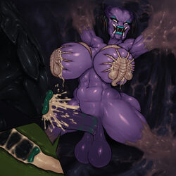 alien alien_(franchise) alternate_version_available ass balls big_ass black_hair bound breast_grab breast_squish breasts chitin cum cum_drip cum_explosion cum_in_mouth cum_inside cum_leaking dreadlocks facehugger fellatio female femdom futa_on_female futanari futasub group group_sex hand_on_breast huge_breasts kiss_mark lactation large_breasts lipstick lipstick_mark lipstick_on_penis lipstick_ring long_tongue mandibles messy milk muscular muscular_futanari nude oral orgasm parasite penis predator_(franchise) purple_skin rampage0118 restrained sex stimia_(rampage0118) suckling urethral urethral_penetration voluptuous wide_hips xenomorph yautja rating:Explicit score:84 user:bot