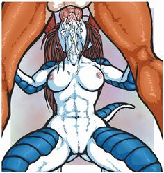 breasts cum dragon fellatio female kneeling luraiokun male mammal nude oral pussy sex straight veronica_downing yaff_(copyright)  rating:explicit score:4 user:bot