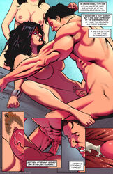 1boy 2girls abs armpits ass barefoot black_hair blue_eyes bracelet breasts clark_kent comic dc dc_comics diana_prince english_text feet female highres jewelry justice_league large_breasts lois_lane long_hair male multiple_girls muscles navel nipples open_mouth penis pussy scott_jones sex shade_jones short_hair spread_legs straight superman superman_(series) text tiara toes tongue tongue_out topless vaginal_penetration veins veiny_penis wonder_woman wonder_woman_(series) rating:Explicit score:22 user:Bart