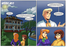 2girls breasts daphne_blake english_text freddy_jones john_persons large_breasts male rabies-t-lagomorph red_hair scooby-doo text velma_dinkley rating:Safe score:5 user:lupianwolf