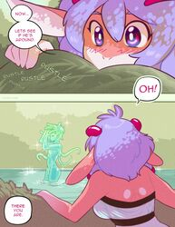 2017 anthro big_breasts blush breasts clothed clothing comic dialogue dragon duo english_text female goo hair hi_res humanoid jewelry koh_(luckypan) luckypan male miha nude penis purple_hair scalie straight text water rating:Explicit score:5 user:bot
