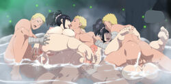 2girls 3boys anal ashikoki ass barefoot bathing blue_eyes blue_hair breasts canon_couple caressing_testicles clone couple cum ejaculation feet french_kiss husband_and_wife hyuuga_hinata kissing large_penis legs lexus_(artist) lipstick long_hair makeup multiple_boys multiple_girls naruto nipples nude partially_submerged penis ponytail pussy red_lipstick saliva sex soles testicles thighs tied_hair uzumaki_naruto vaginal_penetration water wet rating:Explicit score:-14 user:bot