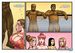 3boys 4girls bbc big_penis blonde_hair dark-skinned_male dark_skin english_text interracial john_persons large_breasts miko_(the_pit) muscular_male nude pamela_(the_pit) patty_(the_pit) rabies-t-lagomorph susan_(the_pit) swimming_pool text the_n_word rating:Explicit score:23 user:lupianwolf