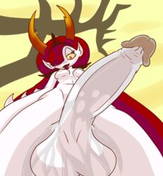 demon first_person_view futaloliisbest hair hekapoo horn intersex long_hair looking_at_viewer penis star_vs_the_forces_of_evil tongue tongue_out  rating:explicit score:13 user:bot