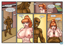bbc big_penis dark-skinned_male dark_skin english_text female interracial john_persons large_breasts male paizuri patty_(the_pit) pool_party rabies-t-lagomorph red_hair text rating:Explicit score:12 user:lupianwolf
