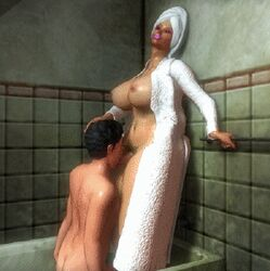 animated bathroom bathtub futa_on_male futanari hand_on_head heromant lipstick oral tagme  rating:explicit score:51 user:htghnj