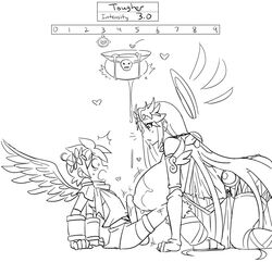 angel angel_wings big_breasts black_and_white breast_expansion graphite_knight growth kid_icarus line_art nintendo palutena penis penis_growth pit pit_(kid_icarus) sepiascribe rating:Explicit score:21 user:fuckadelic