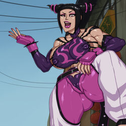 big_breasts big_lips feet huge_ass insult juri_han rampage0118 street_fighter rating:Explicit score:8 user:pocodoco