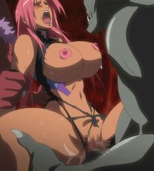 animated blush bouncing_breasts breasts censored closed_eyes erect_nipples female ingrid_(taimanin_asagi) lilith-soft long_hair makai_kishi_ingrid monster open_mouth penetration pink_hair pussy rape thrusting torn_clothes vaginal_penetration rating:Explicit score:80 user:bot