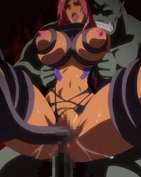 anal animated blush bouncing_breasts censored clothes dark_skin double_penetration drooling kagami_(artist) lilith makai_kishi_ingrid monster navel nipples open_mouth oppai orc penetration pussy_juice rape red_hair screen_capture sex spread_legs sweat tentacle torn_clothes vagina rating:Explicit score:28 user:bot