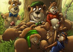 5boys alvin_and_the_chipmunks alvin_seville anal balls boo_boo cum erection fingering furryrevolution gay oral penis simon_seville theodore_seville yogi_bear