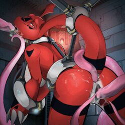 anal anal_sex animated ass bondage bound digimon double_penetration female flash guilmon jasonafex nude oral_sex penetration pussy_juice rape red_butt rule_63 scappo sex solo tentacle tentacle_rape thick_butt vaginal_penetration