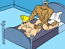 anal animated bed cartoon_network crossover fairly_oddparents human johnny_bravo johnny_bravo_(series) jorgen_von_strangle male male_only multiple_males nickelodeon nude sex tagme yaoi
