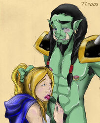 human jaina_proudmoore orc thrall warcraft_3 world_of_warcraft