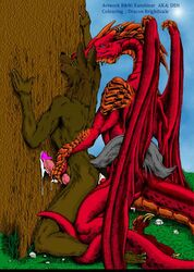 anal anthro canine claws collaboration cum dragon erection handjob karabiner male male/male mammal penis scalie sex western_dragon wings wolf