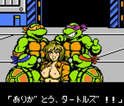 april_o'neil april_o'neil donatello leonardo michelangelo raphael teenage_mutant_ninja_turtles