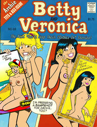 2girls archie_comics betty_and_veronica betty_cooper black_hair blonde_hair breasts cactus34 nude pussy veronica_lodge