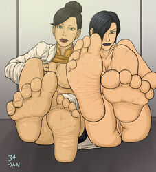 34-san barefoot black_knight generator_rex rebecca_holiday soles toes