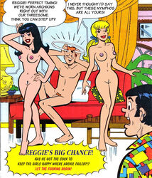 2girls archie_andrews archie_comics betty_and_veronica betty_cooper black_hair blonde_hair breasts cactus34 nude pubic_hair pussy reggie_mantle threesome veronica_lodge