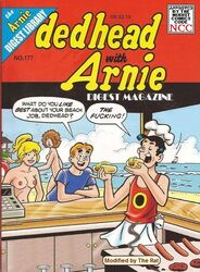 alias_the_rat archie_andrews archie_comics beach betty_cooper blonde_hair breasts jughead_jones topless