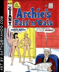 2girls archie archie_comics betty_and_veronica betty_cooper black_hair blonde_hair breasts female hiram_lodge human male nude pussy satyq veronica_lodge
