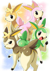 alternate_color ass big_butt cervine cute deer deerling group pokemon